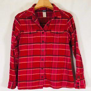 Patagonia Women's Fjord Flannel Shirt 8 pink plaid